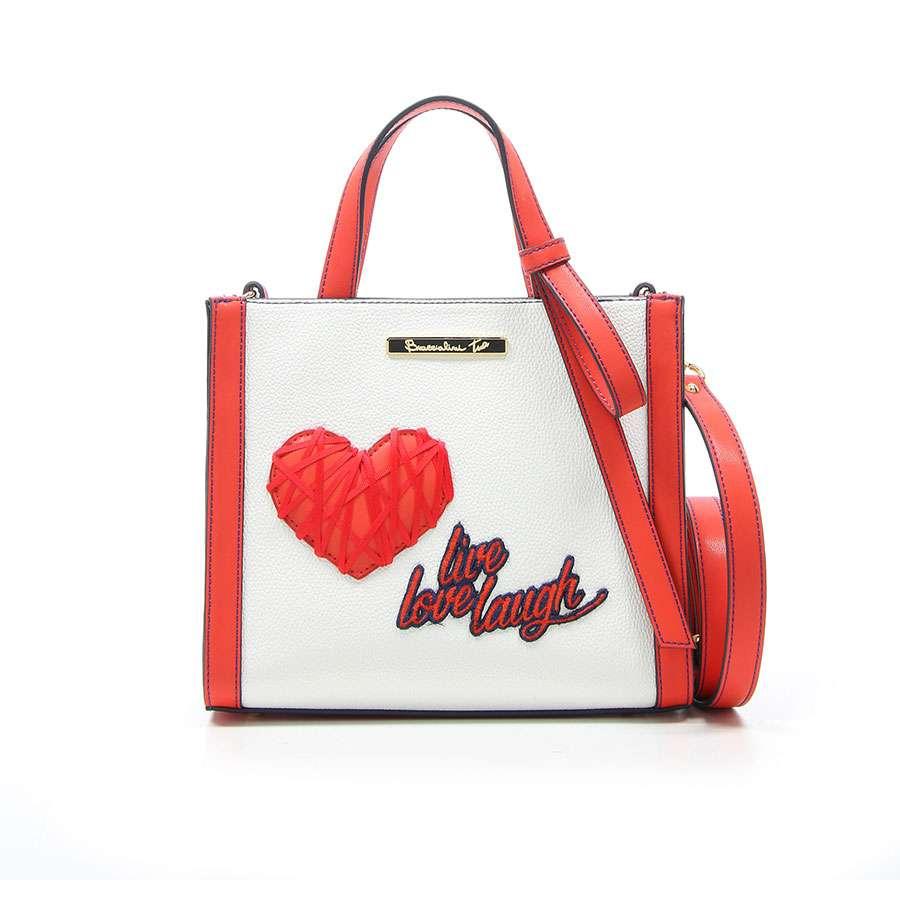 1b0cbe3b0f3e Сумка женская Braccialini Tua Love Bianco/Rosso B12801-YY-2802 купить из  Италии, цена со скидкой в интернет-магазине | TutITALIA