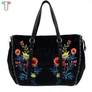 Trussardi Jeans Portulaca Velvet / Embroidery Black 75B00537 9Y099997