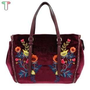 Trussardi Jeans Portulaca Velvet / Embroidery Bordeaux 75B00537 9Y099997