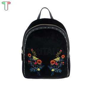 Trussardi Jeans Portulaca Velvet / Embroidery Black 75B00539 9Y099997