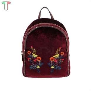 Trussardi Jeans Portulaca Velvet / Embroidery Bordeaux 75B00539 9Y099997