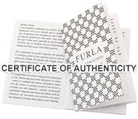 FURLA CERTIFICATE OF AUTHENTICITY